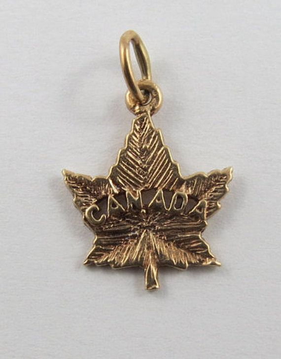 Canada Maple Leaf 10k Gold Vintage Charm For By Silverhillz Vintage Charms 10k Gold Charm Bracelet