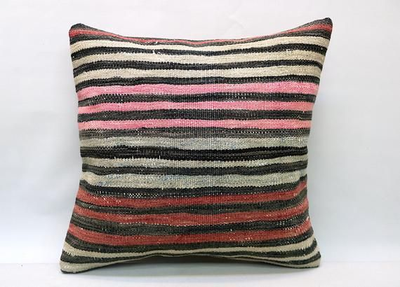 Kilim Pillow, 20x20 in, Decorative Pillow, Sofa Pillow, Vintage Pillow, Turkish Pillow, Throw Pillow, Accent Boho Pillow, Kilim Cushion