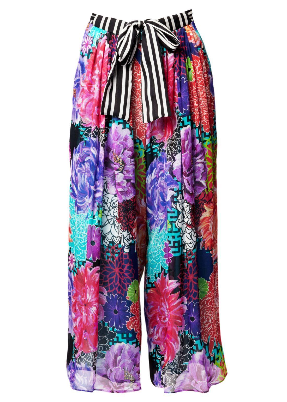 3840e739d21af Miyazaki Mirage Silk Palazzo Crop Trousers