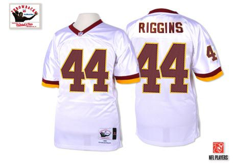 The officially licensed Mitchell and Ness Washington Redskins White  44  John Riggins Premier Throwback Jersey provides ultimate breathability so  you can ... 3d8d4a9bd