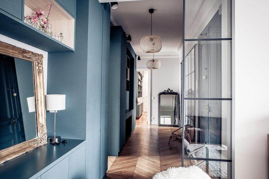 Un appartement haussmannien en bleu à paris planete deco a homes