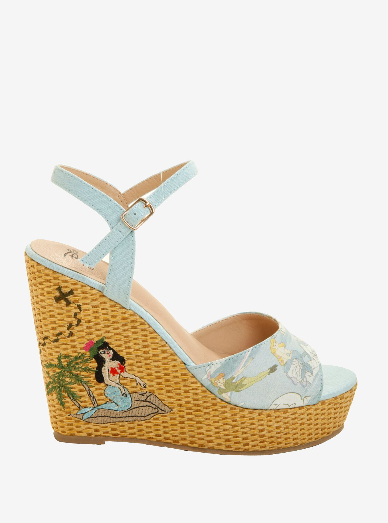 Her Universe Disney Peter Pan Mermaid Lagoon Wedge Heels