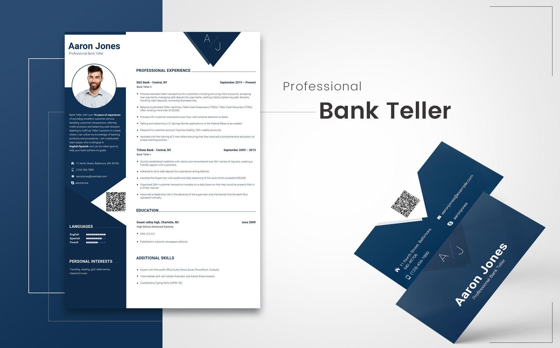 Aaron Jones Bank Teller Resume Template 65242 Bank Teller Bank Teller Resume Resume Template