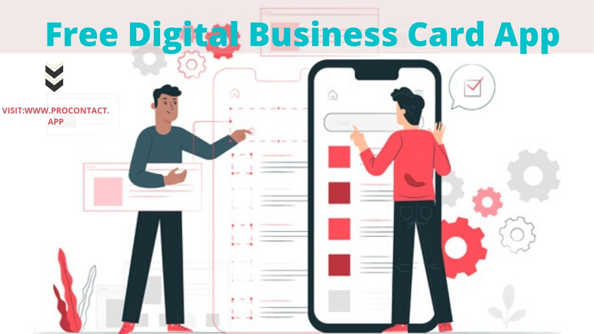 Download Procontact App Now And Create A Business Card For Your Employee Mobile Application Development App Development Digital Business Card