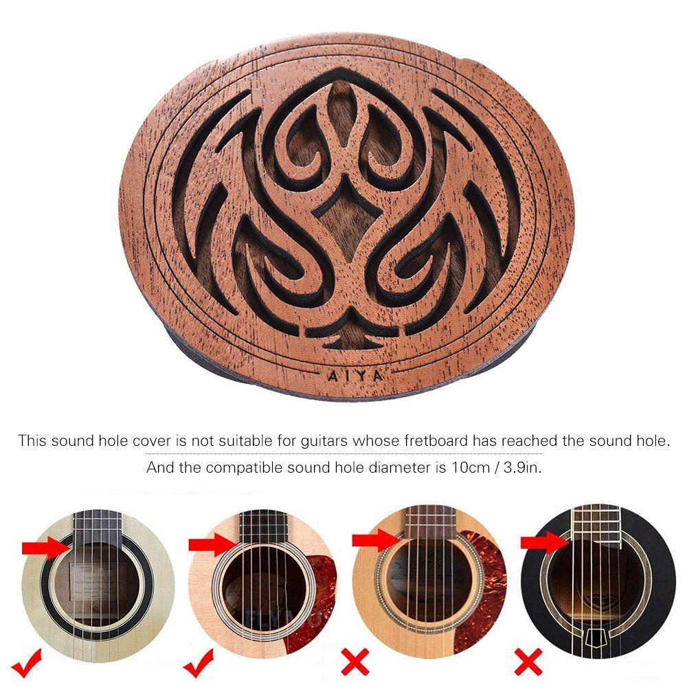 Ammoon Guitar Wooden Soundhole Sound Hole Cover Block Feedback Buffer Mahogany Wood For Eq Acoustic Folk Guitars Learn More Mahogany Wood Mahogany Acoustic
