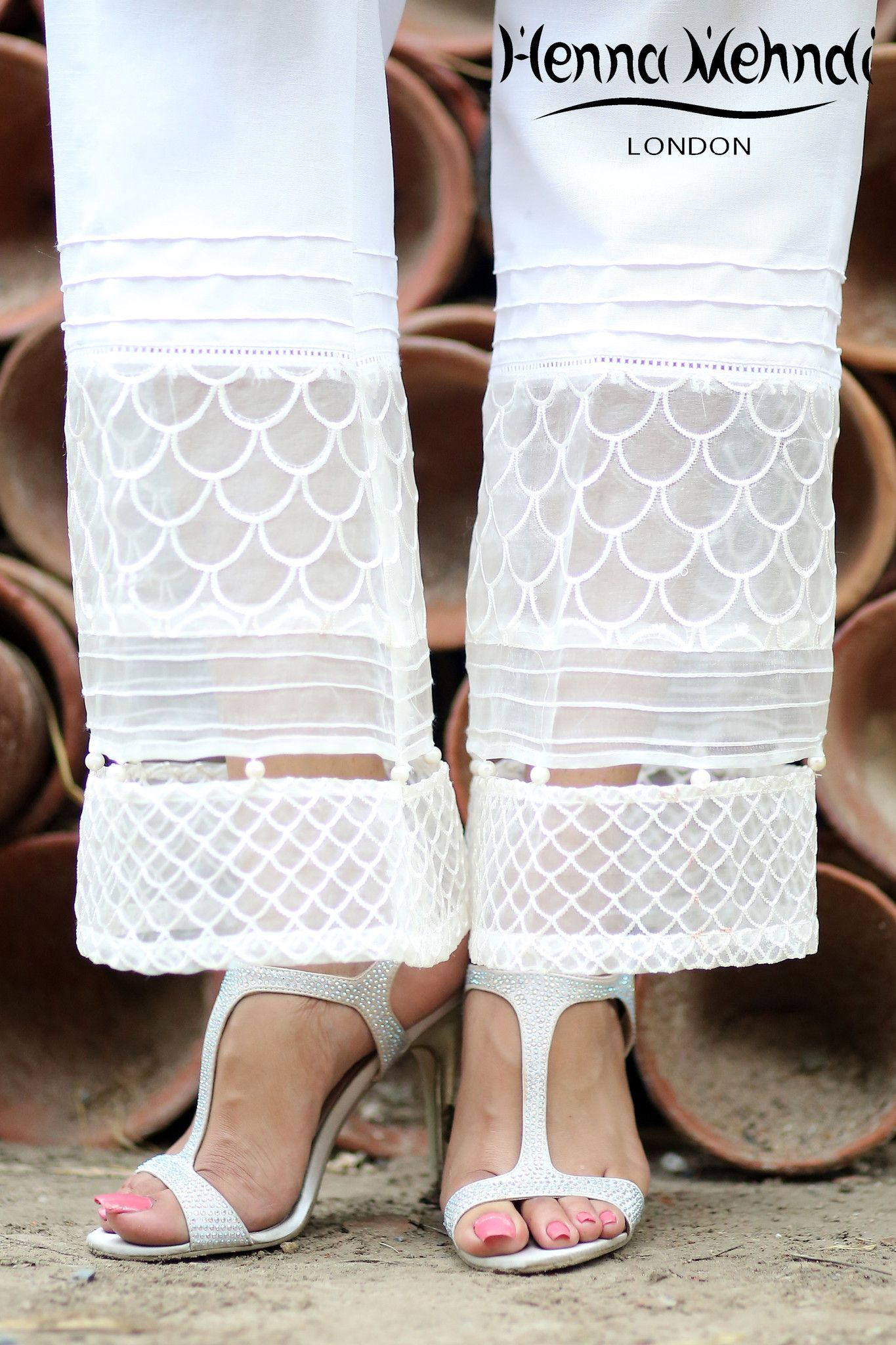 White Embroidered Trousers | Its in the pants | Pinterest | Trousers ...