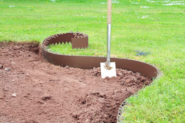 1 Length Green Garden Edge Lawn Border Edge Planter Tree Edging 60mm Deep