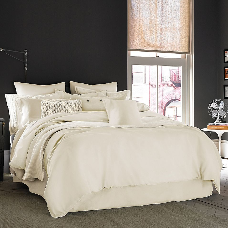 Kenneth Cole Reaction Home Mineral Full Bed Skirt In Ivory Home