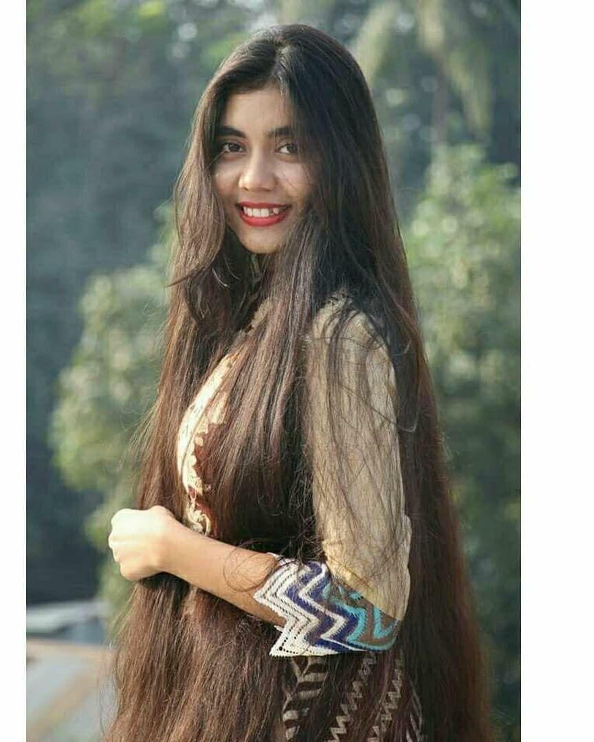 Follow This Beautiful Long Hair Girl Noureen Afrose Thanks For This Beautiful Long Hair Picture Beautiful Long Hair Long Hair Pictures Long Hair Girl