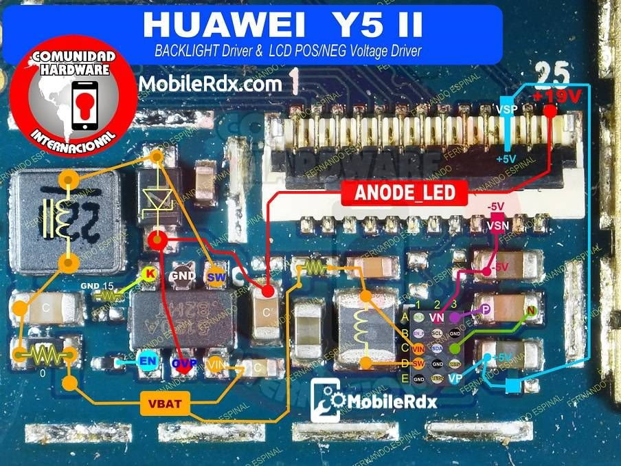 Huawei Y5 Ii Backlight Ways Display Light Problem Solution The Solution Below Shows The Huawei Y5 Ii Lcd Displa In 2020 Light Display Phone Solutions Smartphone Repair