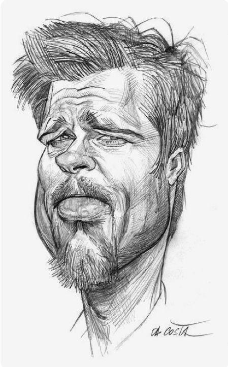 Рисунки карандашом карикатуры смешные