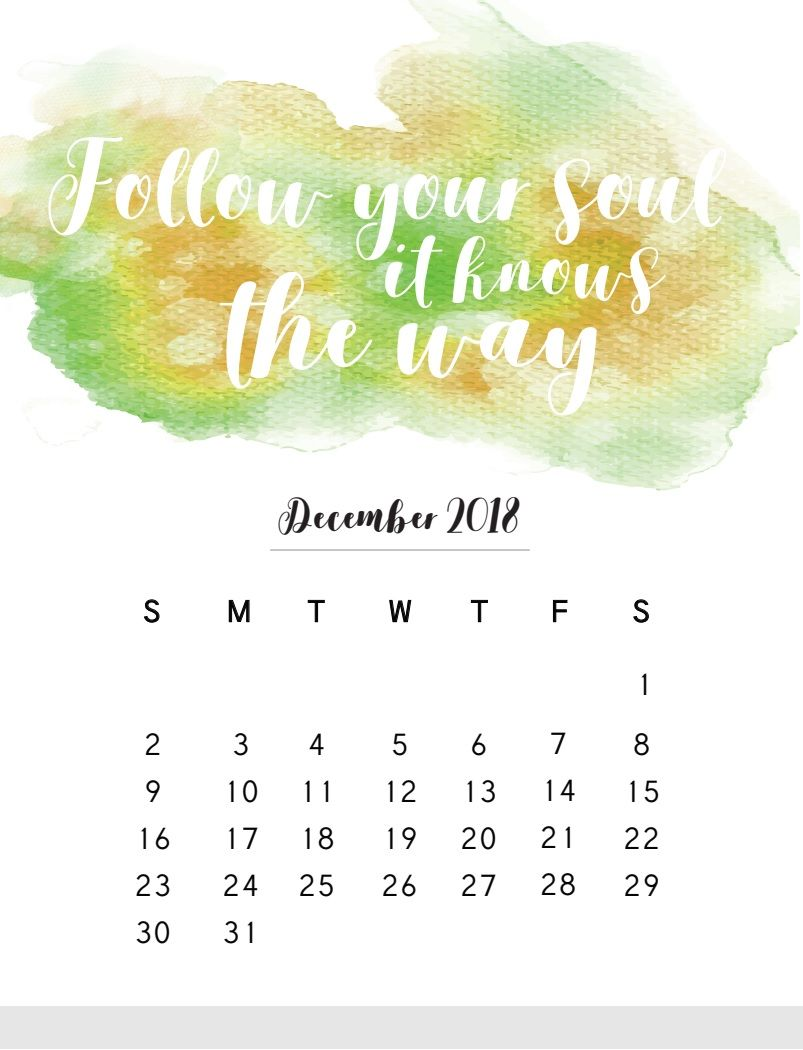 Calendar 2018 with Motivational Quotes | MaxCalendars ...