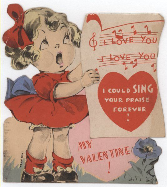 A Very Vintage Valentine Vintage Valentines Vintage Valentine Cards Retro Valentines