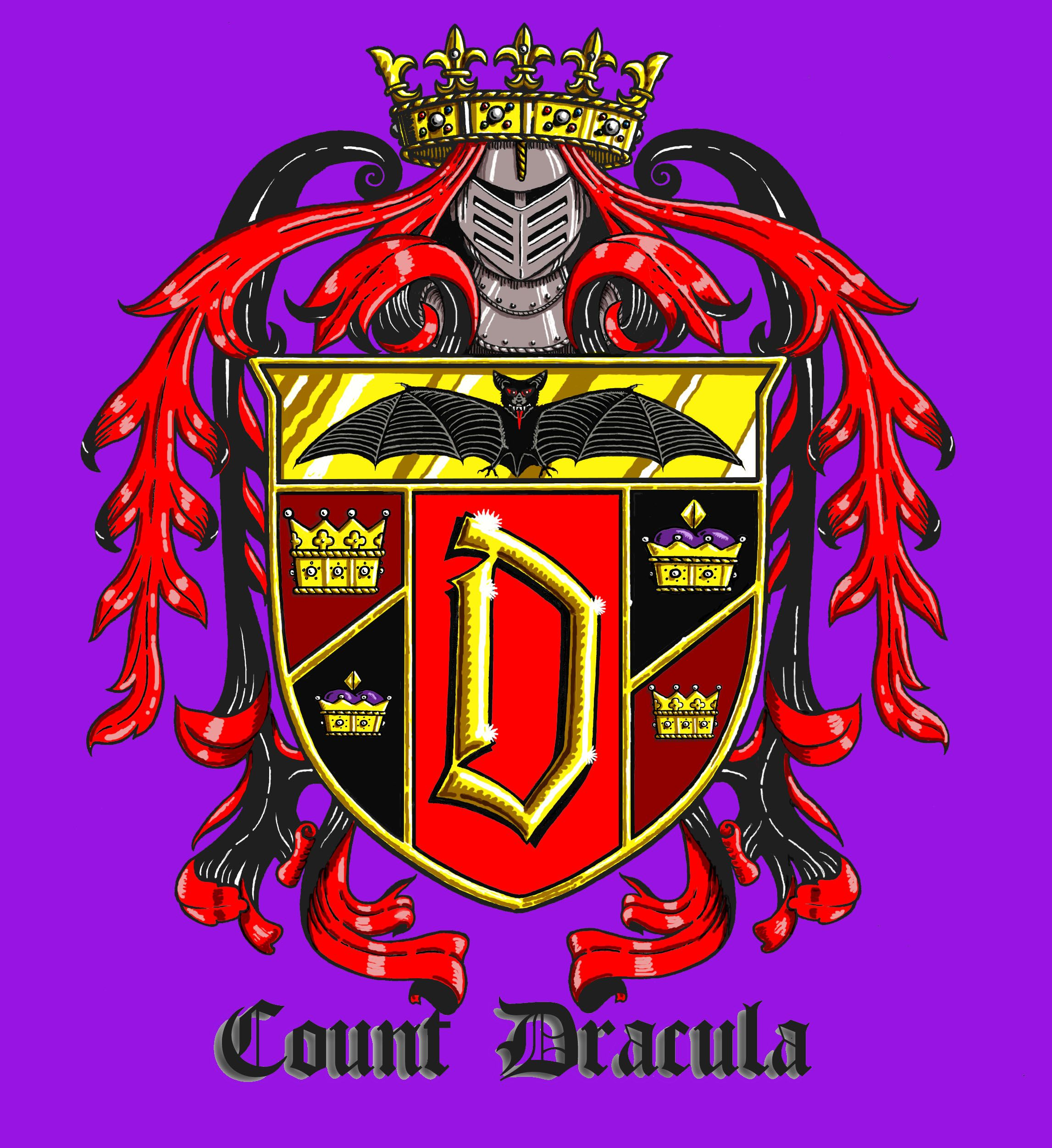 Colored version of Dracula's RIng. All these images are copyrighted 2013 by David T. St. Albans
