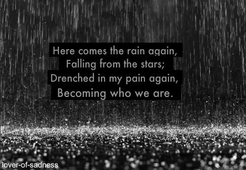Here Comes The Rain Again Falling From The Stars Wake Me Up When September Ends Like My Mother S Come To Pass For Me It S September Too