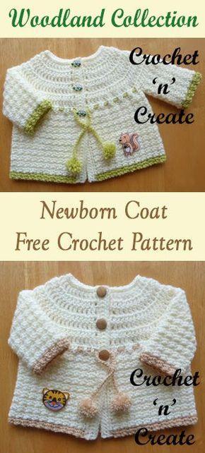 Woodland Baby Coat Free Crochet Pattern Pinterest Baby Coat