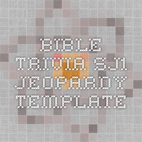 Bible Trivia - SJ1 Jeopardy Template | Bible Class-Happy