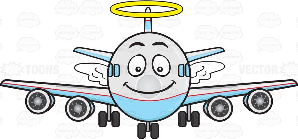 Smiling Jumbo Jet Plane With Halo And Wings Emoji Aircraft Engine Jumbo Jet Jet Plane