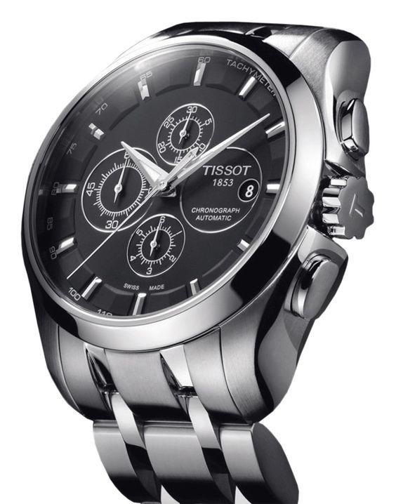 Tissot Couturier Chronograph Automatic Edelstahl Uhren Datenbank Watchtime Net Watches For Men Tissot Watches Watches