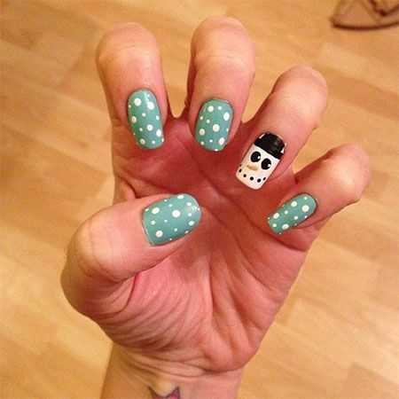 very easy winter nail art designs 2013/ 2014 for beginners