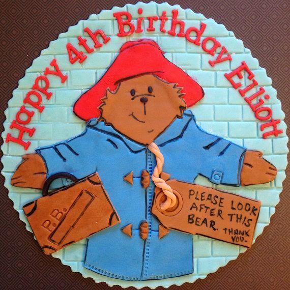 Cake Art Paddington : Paddington Bear Cake Topper by FondantandFrosting on Etsy ...