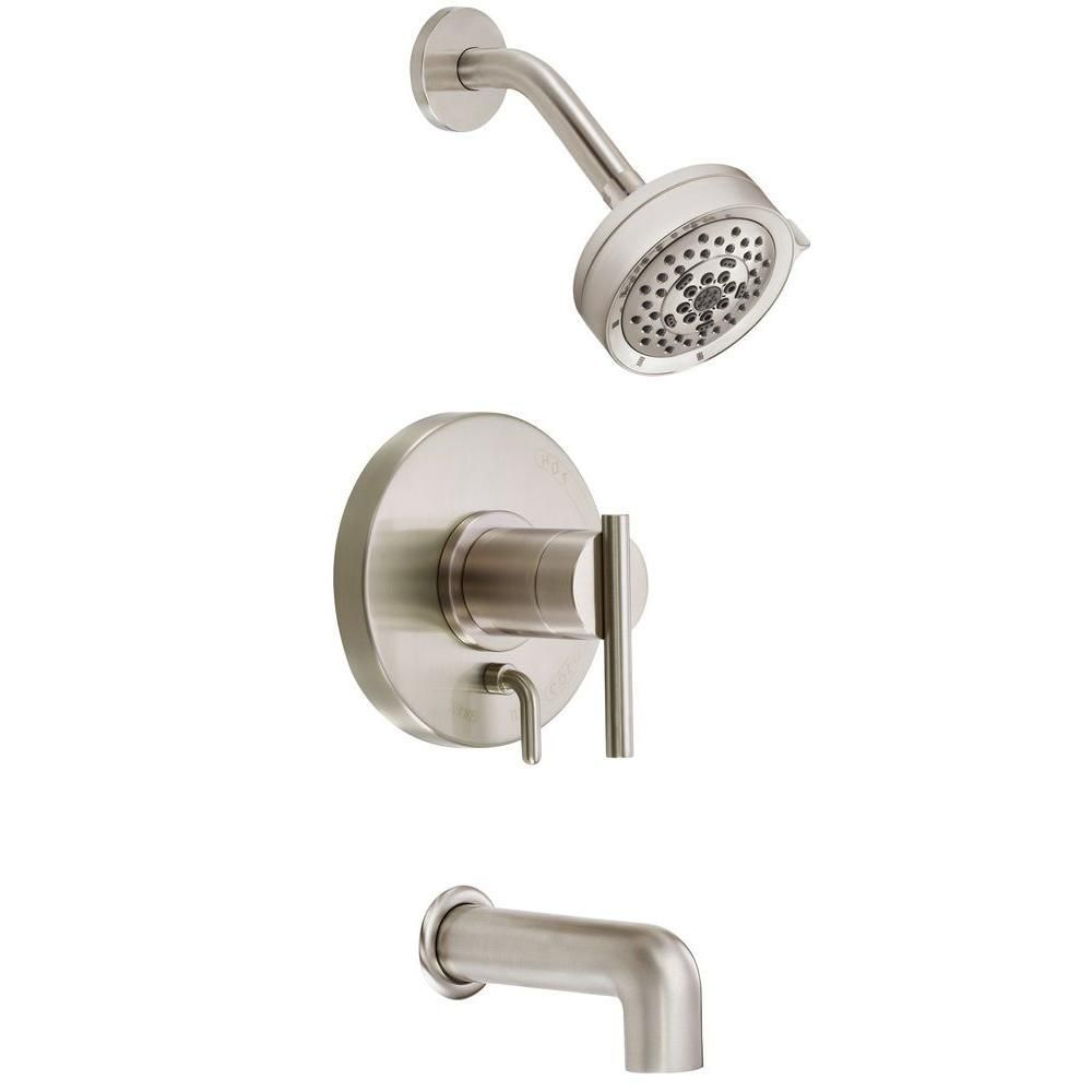 Awesome Brushed Nickel Tub And Shower Faucet Set