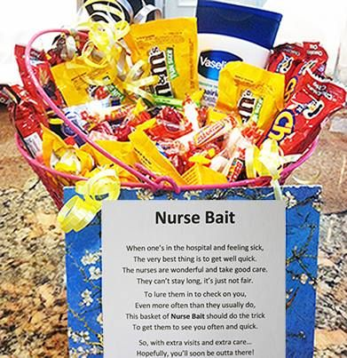This is a cute idea especially for a cancer patient or someone who to get those caring nurses to check on you just little more then usual solutioingenieria Choice Image
