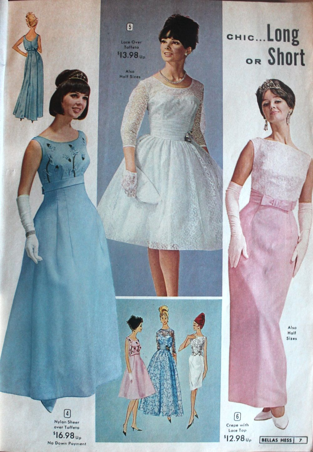 1960s Evening Dresses, Bridesmaids, Mothers Gowns | Tea length ...