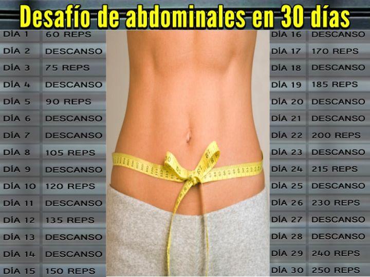 Ejercicios en casa reto para abdominales gym workout for Abdominales