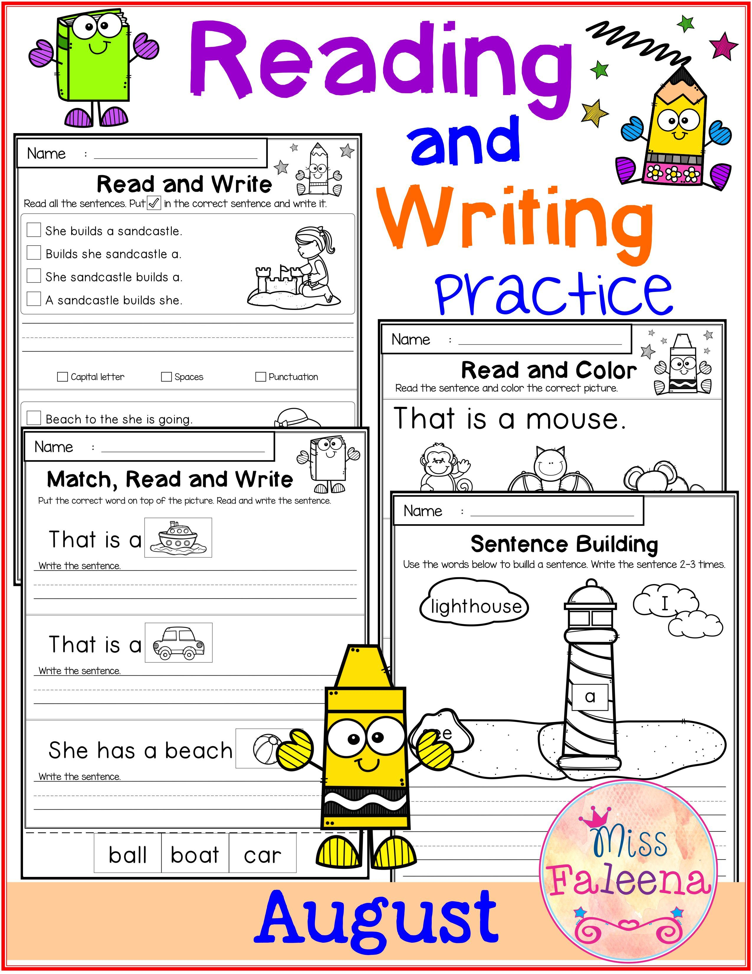 August Reading And Writing Practice