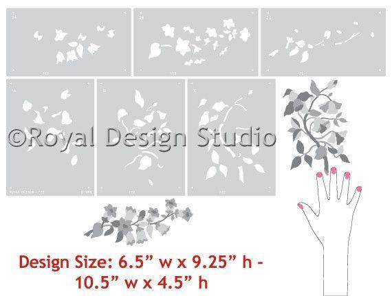 English Flowers Series B Stencil English flowers, Stenciling and