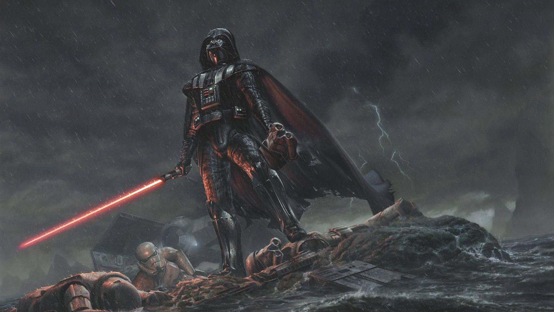 Star Wars Desktop Wallpaper 1920x1080 In 2020 Star Wars Illustration Darth Vader Wallpaper Star Wars Wallpaper