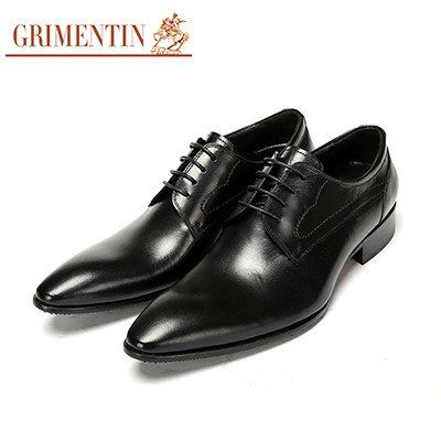 Pointed Toe Slip On Dress Genuine Leather Shoes-New 2017   Men's Corporate Style  Dress Shoes   CorporateMale.com