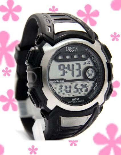 DW326C Date Hälytys taustavalo PNP Matt Silver Kehys vesitiiviit Men Digital Watch
