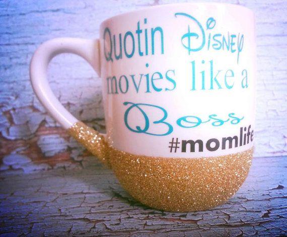 Mom mug, mothers day, disney mug, mom life, glitter mug ...