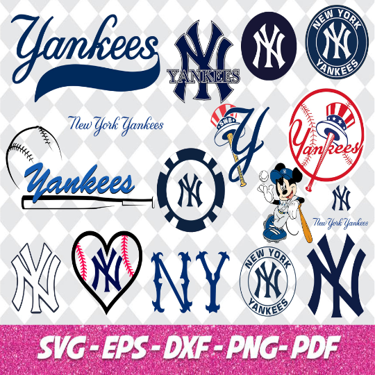 New York Yankees  Files SVG Files For Silhouette, Files For Cricut, SVG, DXF, EPS, PNG Instant Download