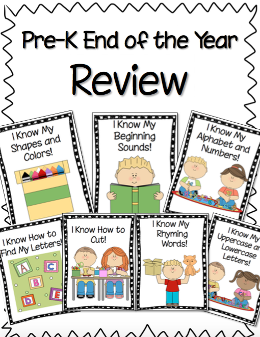 Kinder Garden: Pre-K End Of The Year Review Summer Practice