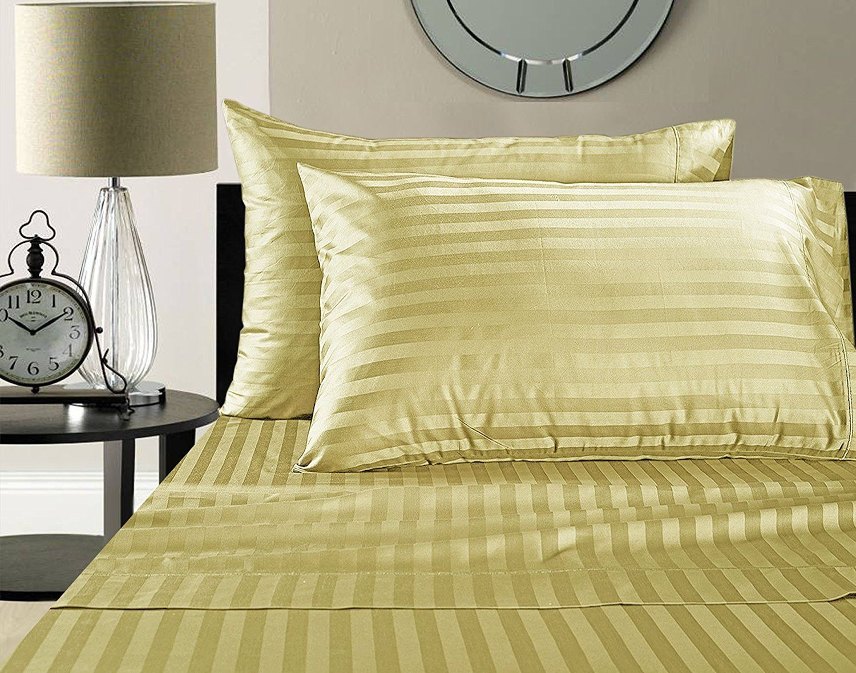 Wamsutta thread count egyptian cotton damask stripe sheet set