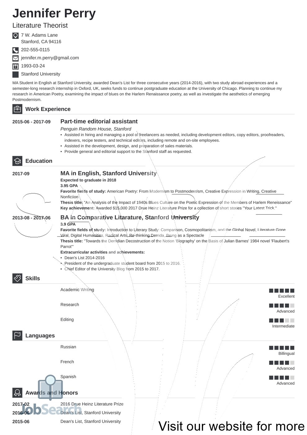 Scholarship Resume Template Google Docs in 2020