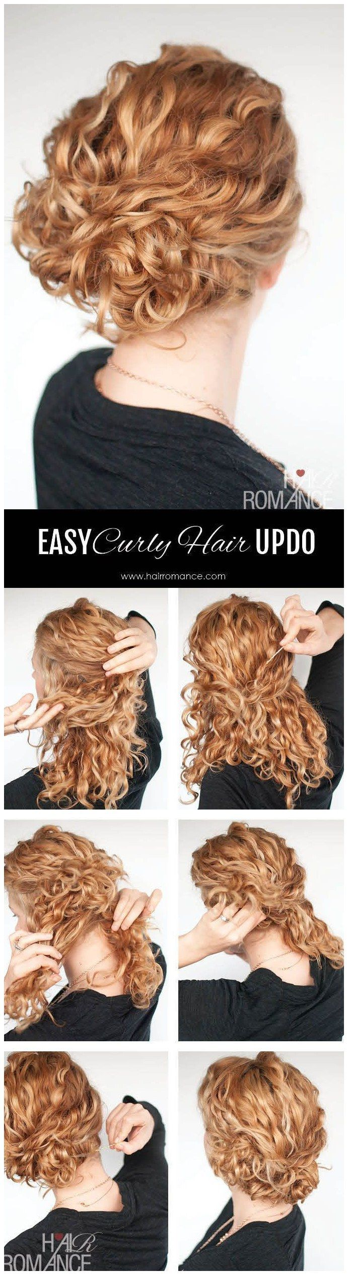 Hairstyle Tutorial Easy Twist And Pin Updo For Curly Hair Hair Romance Curly Hair Styles Naturally Curly Hair Styles Hair Tutorial