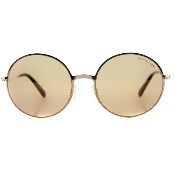 b35f18dd1f6 Michael Kors Kendal II MK 5017 1026R1 Rose Gold Round Metal Sunglasses  ( 100) ❤ liked on Polyvore featuring accessories