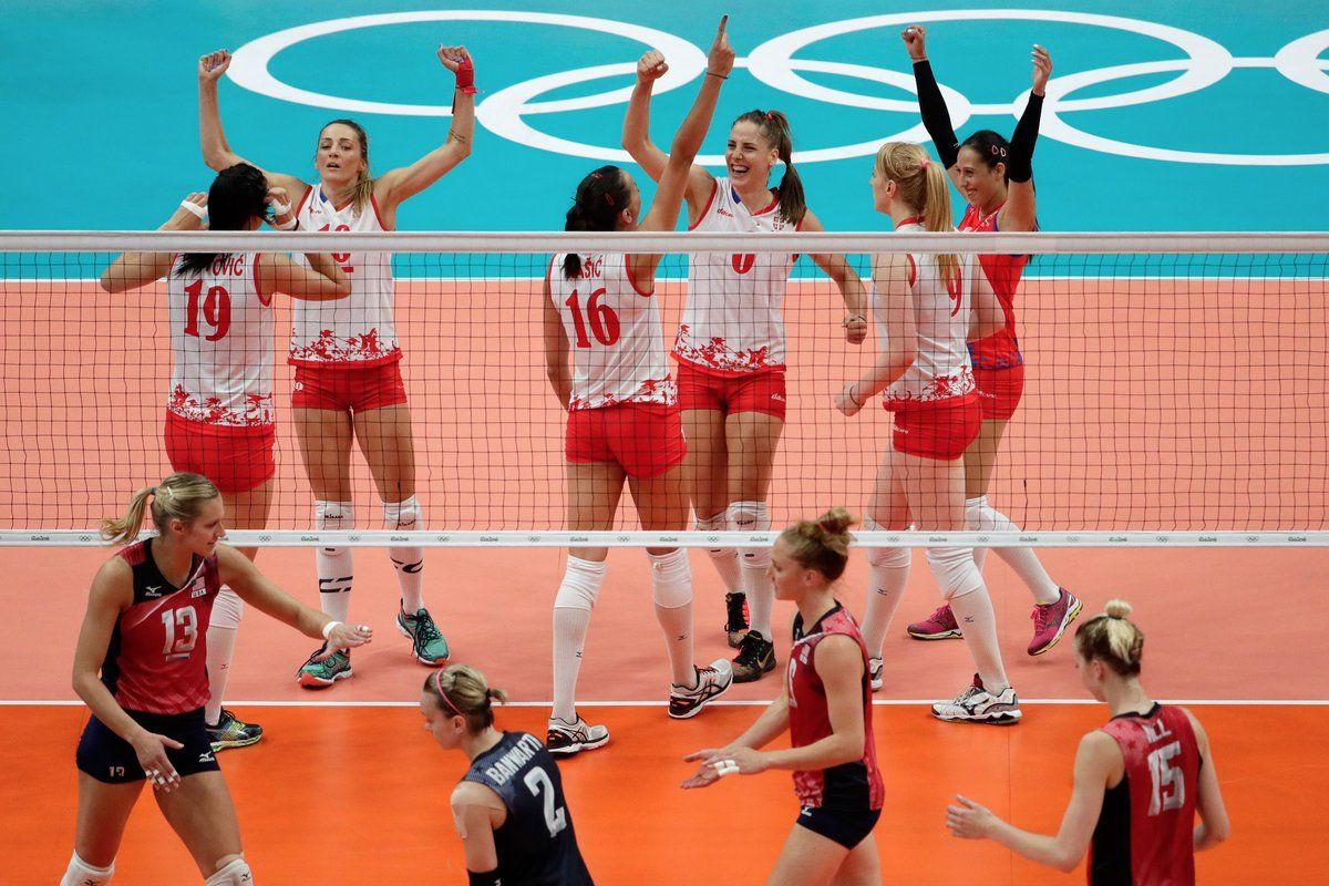 Srb Defeats Usa In A Five Set Nail Biter 15 13 In Final Set Srb Moves On To Women S Volleyball Final Women Volleyball Rio Olympics 2016 Olympics 2016