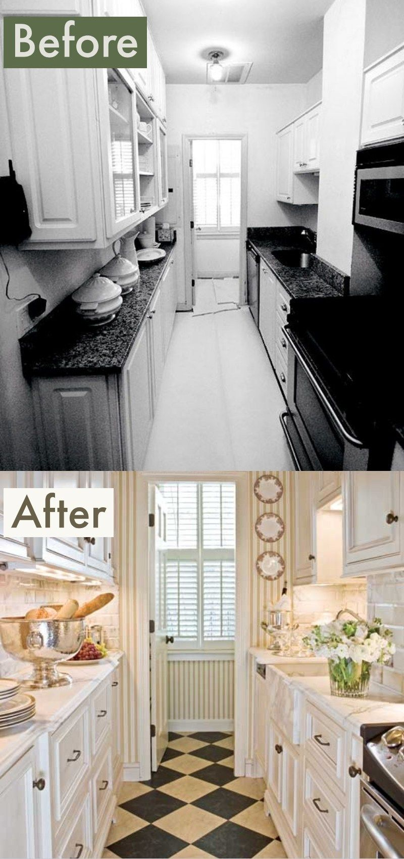 Galley Kitchen Remodel Before And After Ideas 2019 Trends Onabudget Small Beforeandaf Kitchen Remodel Small Galley Kitchen Renovation Galley Kitchen Remodel