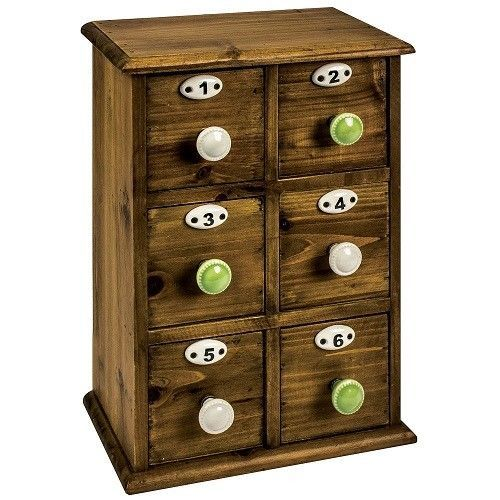 Mini Drawer Small Chest Wooden Decorative Accessories Storage Cabinet  Industrial