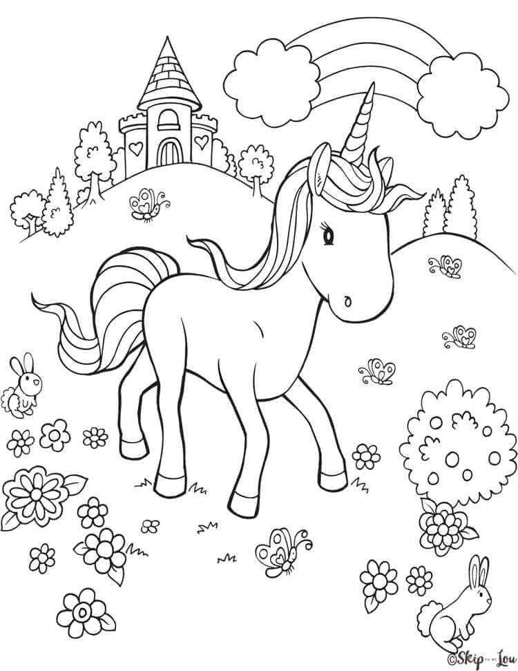Rainbow Unicorn Coloring Page Free Printable Unicorn Head ...