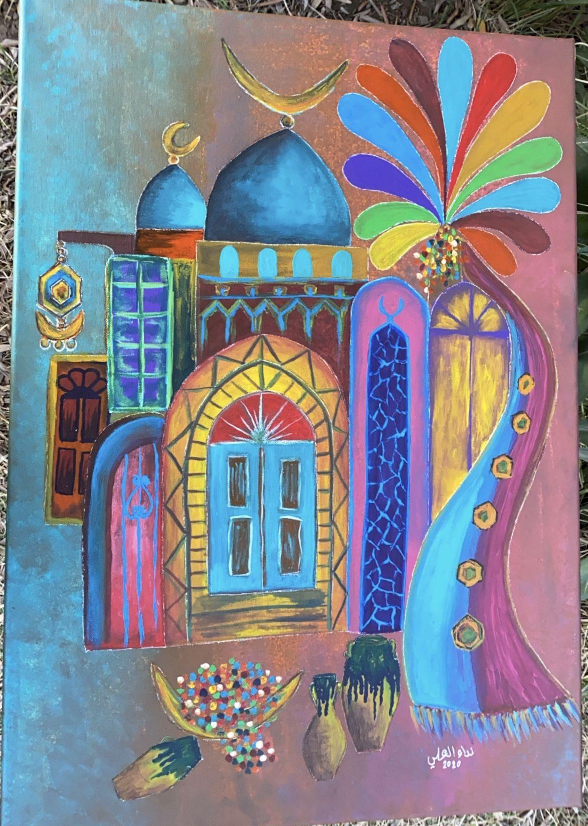 بغداديات شناشيل فن شعبي تراث عراقي نداء العلي Artwork Art Painting