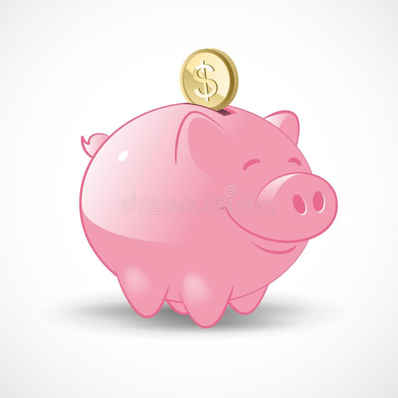 Happy Piggy Bank Illustration Of A Happy Pink Piggy Bank With A Golden Dollar C Aff Bank Illustration Happy Piggy Piggy Bank Piggy Pink Piggy Bank
