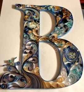 Quilled Letter B Monograms