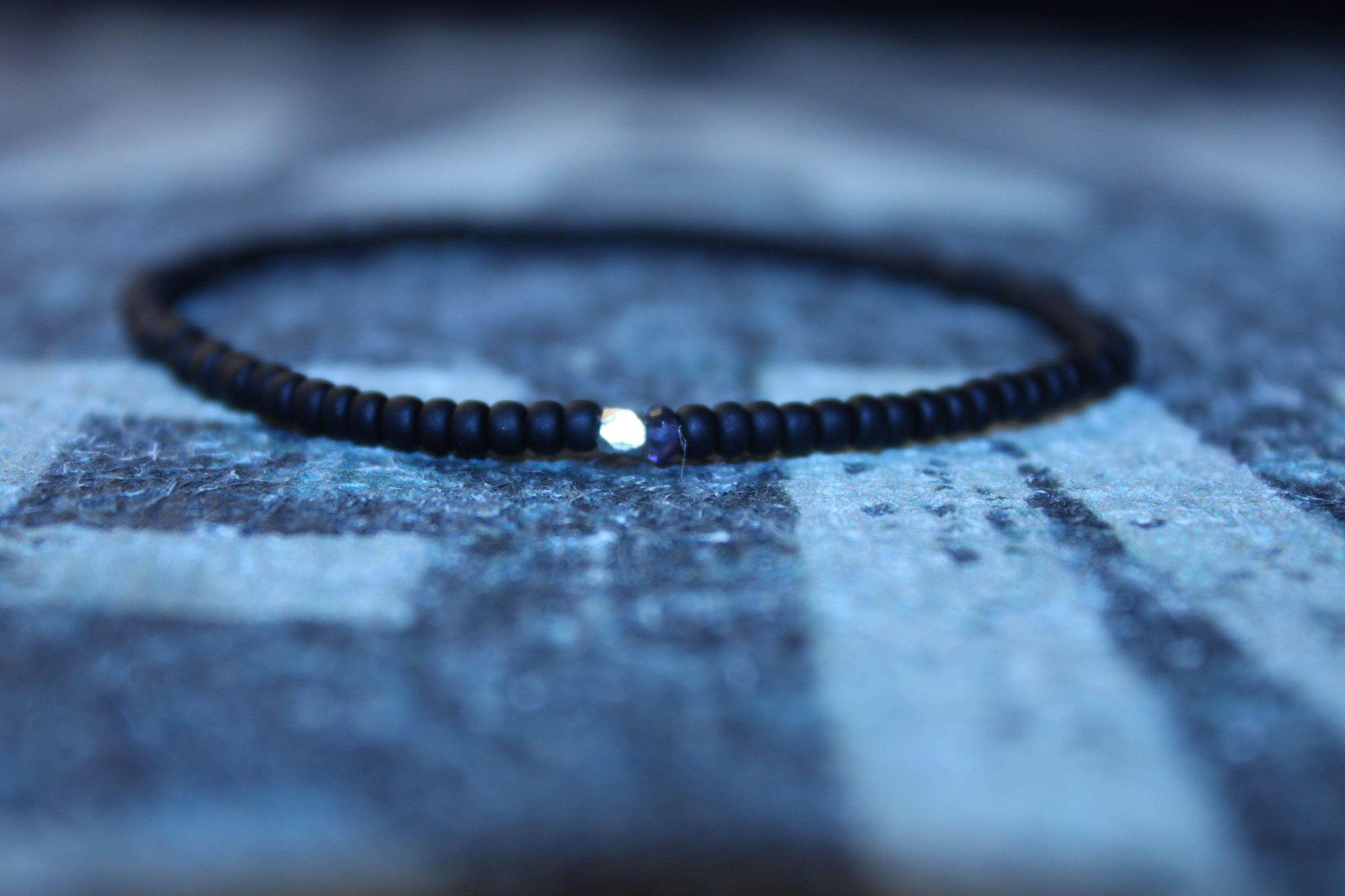 Gifts for men iolite friendship bracelet mens bracelet beaded