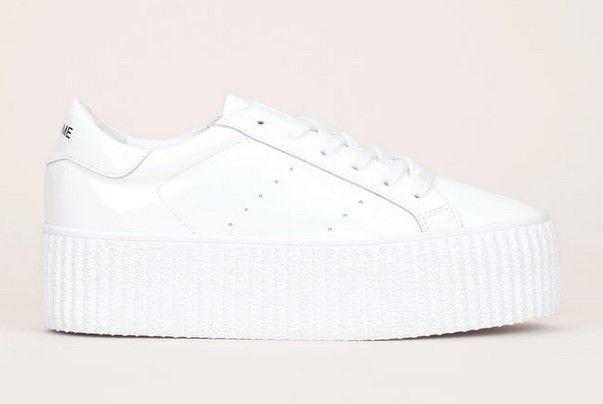 No Wild Cuir Vernis Name Blanc Plateformes En 2019 Sneakers 3j54LAR